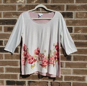 NWOT J.Jill floral shirt, blouse , M